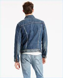 levi s denim trucker jacket features side hem adjusters for the perfect fit