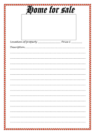 home for sale template blank for sale template by ljj290488 teaching resources tes