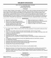 Adjunct Professor Resumes Adjunct Professor Resume Sample Resumes Misc Livecareer