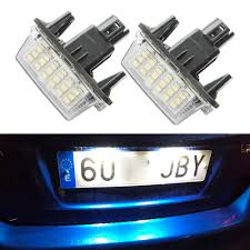 Toyota Camry License Plate Light Replacement Us 9 0 10 Off 2x Car License Plate Lamps Led Custom License Plate Lights For Toyota Yaris 2012 2014 Camry 2013 2014 Auris 2009 2010 In Signal