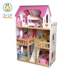 wooden barbie doll furniture. Wooden Barbie Dollhouse Unique Dolls House With Solid Wood Barrier And Furniture Inside Doll R