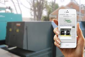 How Does A Trash Compactor Work Smarttrash Trash Management System Wifi Compactor Monitoring