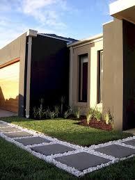 modern and minimalist front yard