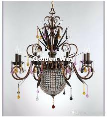 rustic crystal chandelier newly rustic colorful crystal chandelier lamp crystal decor lighting ac guaranteed rustic wood