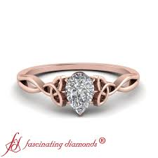 Gold Bridal Ring Designs Details About 1 Carat Single Oval Shaped Si2 Diamond Celtic Design Rose Gold Engagement Ring