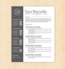 Innovative Resume Templates Classy Design Resume Template Resume Template Sara Reynolds Free Resume