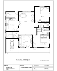 Simple Blueprint Awesome Simple Home Plan With 2 Bedrooms Blueprint Design Ideas
