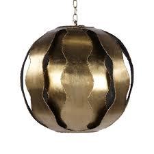 worlds away emilio gold leaf pendant