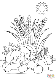 Small Picture Fall Harvest coloring page Free Printable Coloring Pages
