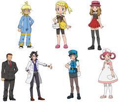 Pokemon X Anime Characters