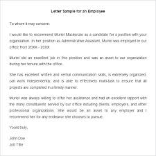 Letter Of Rec Template Interesting Employment Recommendation Letter Sample Poemsromco