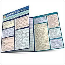 Mla Guidelines 2020 Apa Mla Guidelines Quick Study Academic Inc Barcharts