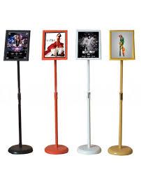 Menu Display Stands Restaurant A100 Metal Round Base Telescopic Pole Restaurant Menu Display Stands 85