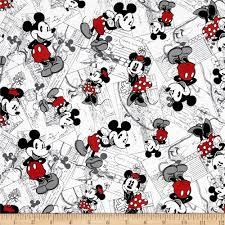 Disney Patterns Unique Disney Vintage Mickey Comic Strip Character Toss BlackRed
