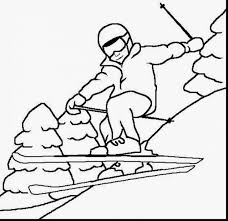 wonderful winter sports coloring pages with winter coloring pages ...
