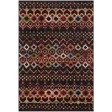 amsterdam black multi 4 ft x 6 ft area rug