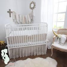 sofa fabulous gender neutral baby bedding 5 tan white linen crib set gender neutral
