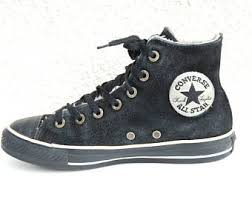 converse vintage. vintage converse black leather boots warm all stars classic unisex sneakers :