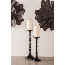 Image Crystal Litton Lane Black Turned Style Iron Candle Holders set Of 351301 The Home Depot Alibaba Litton Lane Black Turned Style Iron Candle Holders set Of 351301