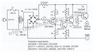 nicd battery charger circuit nicad battery charger schematic