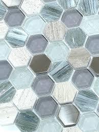 blue gray tile backsplash hexagon glass marble mosaic grey subway