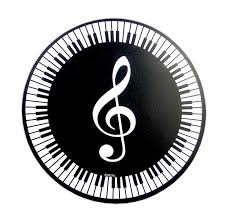 treblecleff round keyboard treble clef music mouse mat musical gifts online