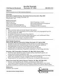 Resume Templates Administrative Assistant Saneme