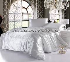 silk bedding set luxurious silk solid color white king queen full twin 100 mulberry silk dyed fabric ls2126 daybed bedding duvet covers queen from yong8