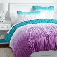 purple and teal bedding quilt cover a