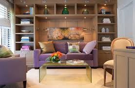 office sleeper. Fabulous Sleeper Sofa In Purple And Sconce Lighting For The Guest Bedroom [Design: Cindy Ray Interiors] Office G