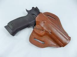 falco handmade leather owb open top holster cz options