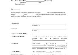 Lease Proposal Letter Stunning Retail Proposal Template Retail Lease Proposal Template Retail