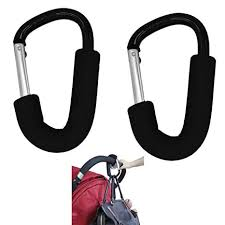Large Aluminium Stroller Hook set 2 Pack (Black) by ... - Amazon.com