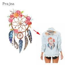 Dream Catcher Shirt Diy Prajna Dreamcatcher Heat Transfer Flower Feather Patches For 53