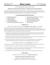 Executive Housekeeper Resume Adorable Housekeeper Resume Sample Housekeeper Resume Sample Executive