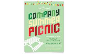 Company Picnic Template Company Summer Picnic Flyer Template Design