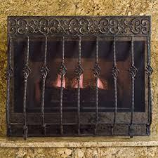 iron fireplace screen. Tuscany Fireplace Screen With Mesh Iron C