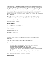 Entry Level Personal Trainer Resume Examples Personal Trainer