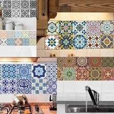 20 pieces mosaic wall tiles sticker kitchen bathroom tile decals waterproof