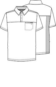 Mens Zip Polo Shirt