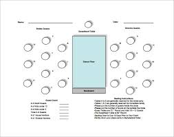 20 members table seating chart free pdf template