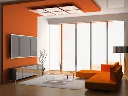 Orange Living Rooms Living Room Orange Feature Wall Nomadiceuphoriacom
