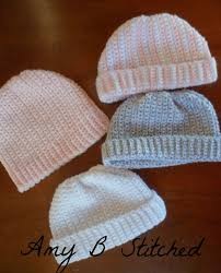 Newborn Crochet Patterns Adorable A Stitch At A Time For Amy B Stitched Newborn Crochet Hat Pattern