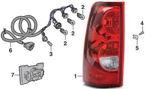 tail light fleetside 2003 07 chevy silverado lmc truck 2005 silverado wiring harness tail light fleetside