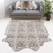 baby zebra print cowhide rug
