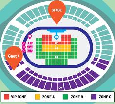 2019 Incheon K Pop Concert K Asian Festival Standing Zone Ticket