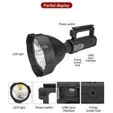 Đèn pin sạc tuần tra siêu xa, đèn pha đa chức năng 4in1 (Multifunctional  searchlight) - Đèn pin Nhãn hàng OEM