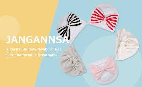 JANGANNSA Cute Bow Newborn Hat Cotton Infant ... - Amazon.com