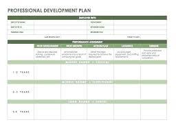 4 Year Plan Template Professional Development Plan For Teachers Template Story