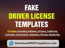 Id Fake License Generator Driver Template